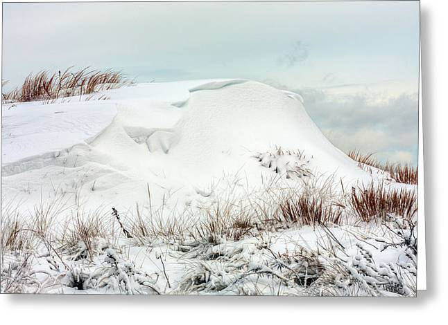 Winter Storm Nemo Greeting Cards - The Snow Dunes Greeting Card by JC Findley