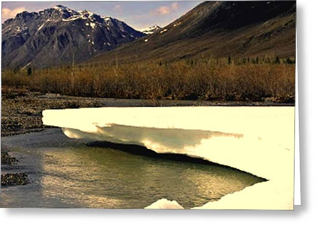Fineartamerica Mixed Media Greeting Cards - The Snow Melt in Alaska Greeting Card by Diane Strain