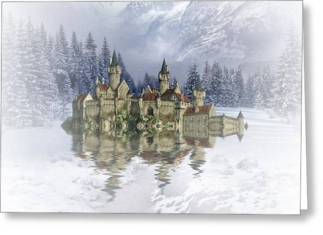 Floods Mixed Media Greeting Cards - The snow palace Greeting Card by Sharon Lisa Clarke