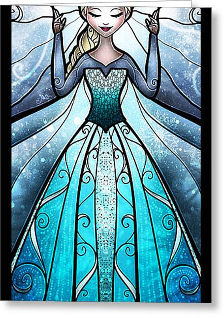 Movie Art Greeting Cards - The Snow Queen Greeting Card by Mandie Manzano
