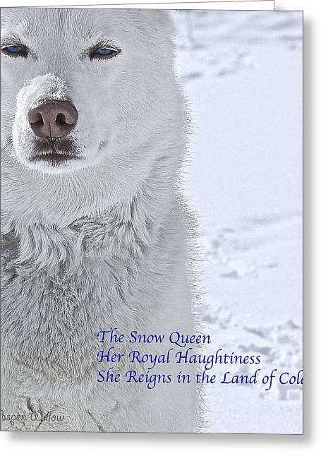 Husky Greeting Cards - The Snow Queen - Poster Greeting Card by May Finch