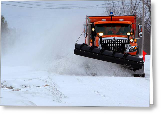 Paul Wash Greeting Cards - The Snowplow Cometh Greeting Card by Paul Wash