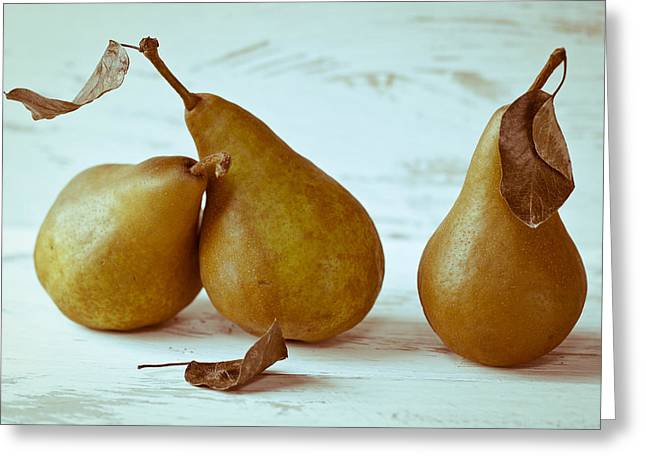 Pear Art Greeting Cards - The Sob Story Greeting Card by Constance Fein Harding