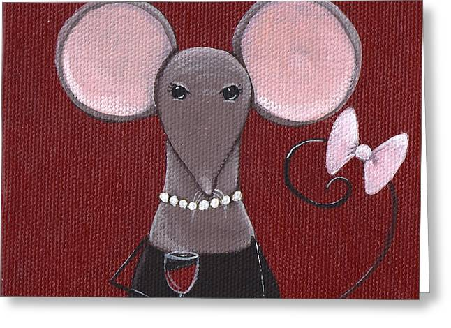 Mouse Greeting Cards - The Socialite  Greeting Card by Christy Beckwith