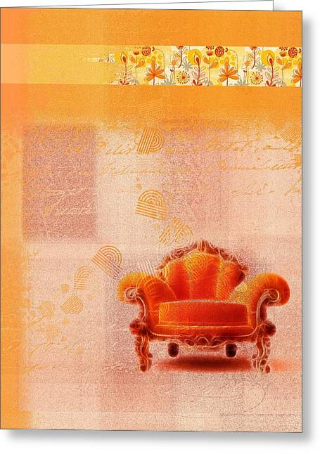 Sofa Art Greeting Cards - The Sofa Chair - s03bb Greeting Card by Variance Collections