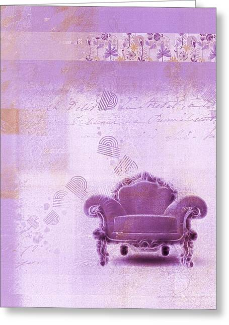 Sofa Art Greeting Cards - The Sofa Chair - s03mv01 Greeting Card by Variance Collections