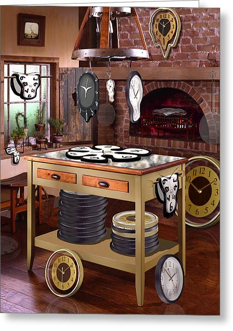 Drying Rack Greeting Cards - The Soft Clock Shop 2 Greeting Card by Mike McGlothlen