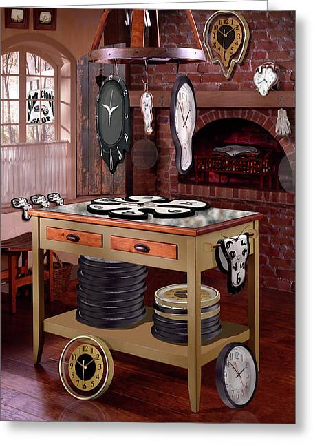 Drying Rack Greeting Cards - The Soft Clock Shop Greeting Card by Mike McGlothlen