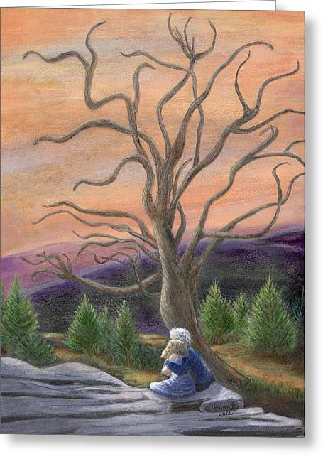 Catherine Howard Greeting Cards - The Solace Tree Greeting Card by Catherine Howard