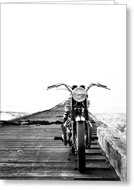 Motorcycles Photographs Greeting Cards - The Solo Mount Greeting Card by Mark Rogan