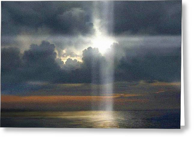 Light Shaft Greeting Cards - The SON shine is coming Greeting Card by Robert Foster