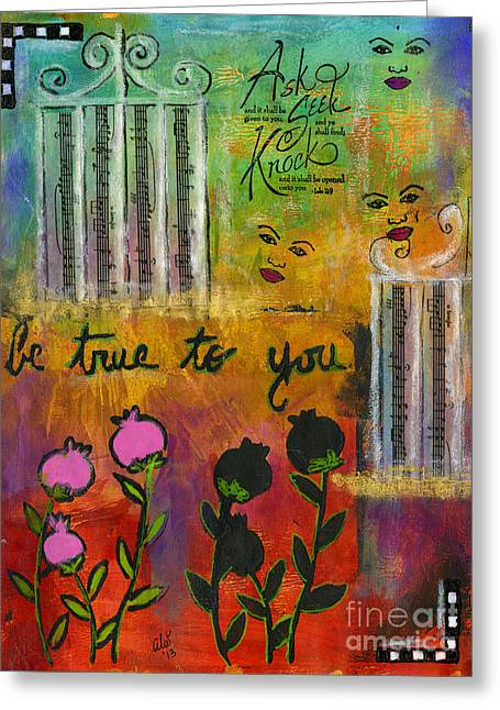 African-american Mixed Media Greeting Cards - The Song of My Own Belief Greeting Card by Angela L Walker