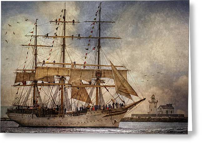 Wooden Ship Greeting Cards - The Sorlandet Greeting Card by Dale Kincaid