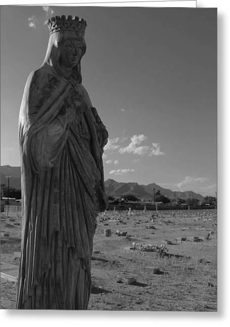 Virgin Mary Greeting Cards - The Sorrow Greeting Card by Chris Bohn