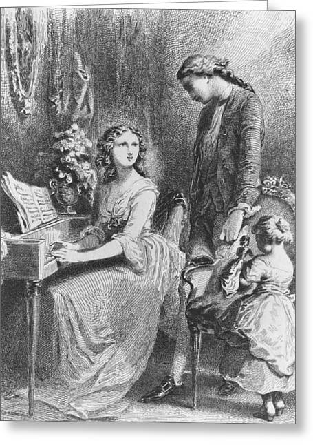 Playing Music Greeting Cards - The Sorrows of Werther Greeting Card by Tony Johannot