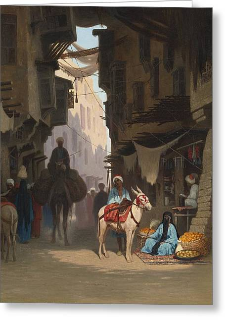 Jihad Greeting Cards - The Souk Greeting Card by Celestial Images
