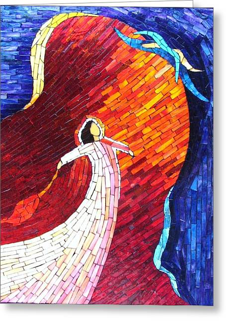 Fantasy Glass Greeting Cards - The Soul Greeting Card by Suzanne Tremblay