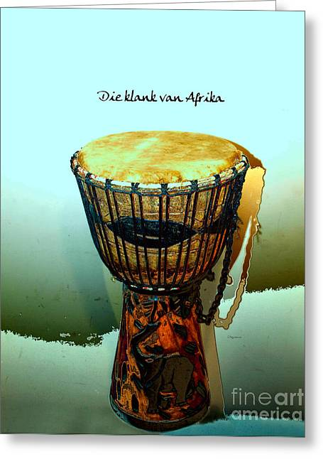 Goblet Digital Art Greeting Cards - The Sound of Africa  Greeting Card by Steven  Digman