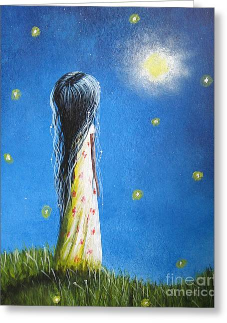 Girlie Greeting Cards - The Sound Of Light by Shawna Erback Greeting Card by Shawna Erback