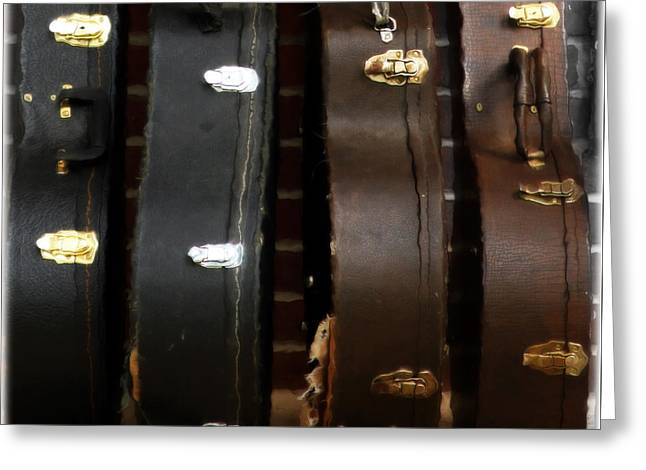 Guitar Case Greeting Cards - The Sound of Luggage  Greeting Card by Steven  Digman