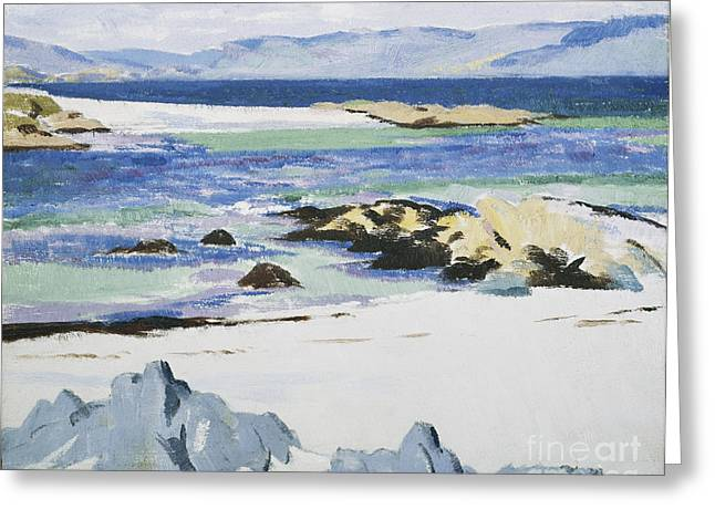 Crag Greeting Cards - The Sound of Mull from Iona Greeting Card by Francis Campbell Boileau Cadell