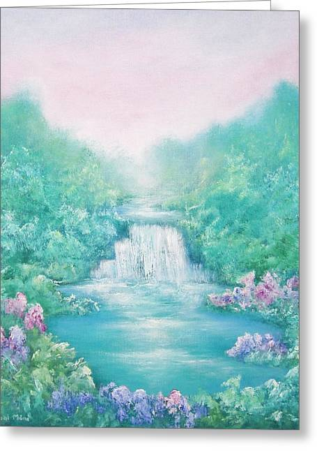 Waterfall Greeting Cards - The Sound of Water Greeting Card by Hannibal Mane