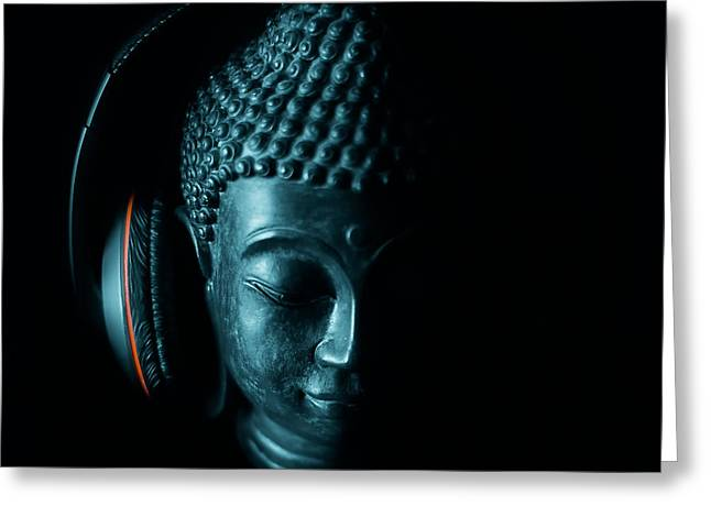 Headphones Greeting Cards - The Sounds Of Silence Greeting Card by Malgorzata Dariusz Szupina