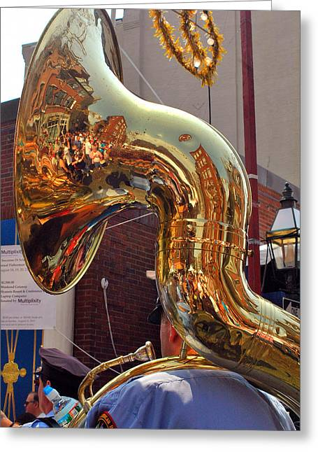 Marching Band Greeting Cards - The Sousaphone - North End Boston Greeting Card by Joann Vitali