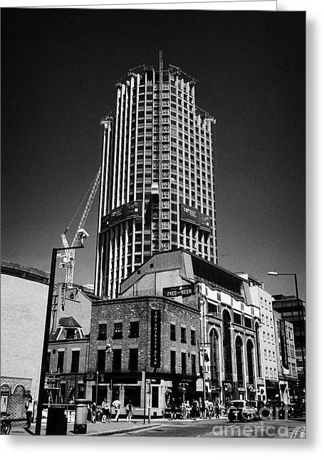 Brutalist Greeting Cards - the south bank tower formerly kings reach tower undergoing redevelopment London England UK Greeting Card by Joe Fox