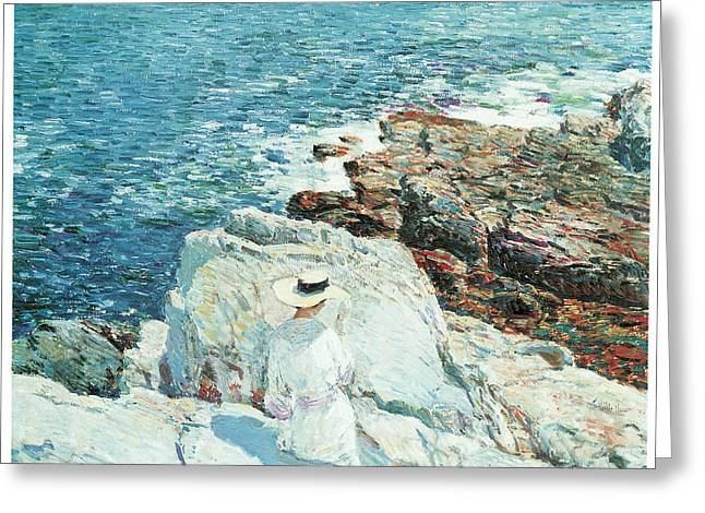 Ledge Greeting Cards - The South Ledges Appledore Greeting Card by Childe Hassam