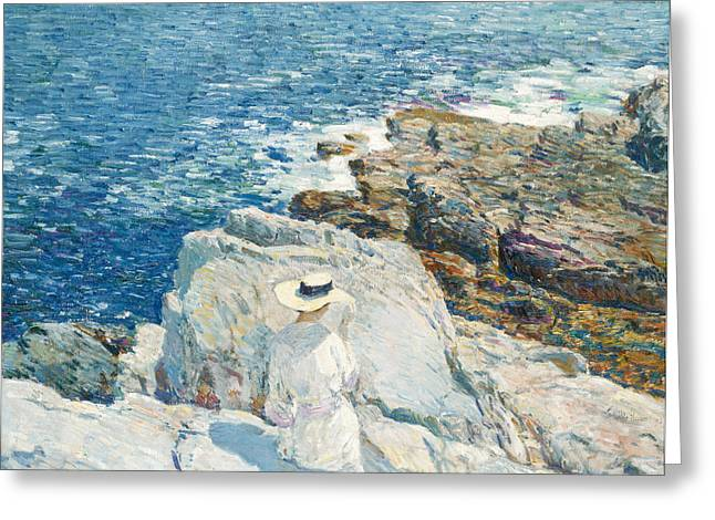 Ledge Greeting Cards - The South Ledges Greeting Card by Childe Hassam