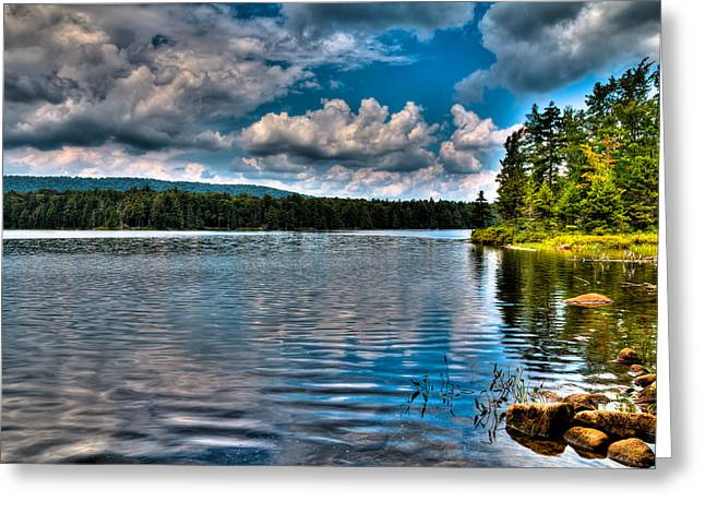 Lush Green Greeting Cards - The South Shore of Bubb Lake Greeting Card by David Patterson