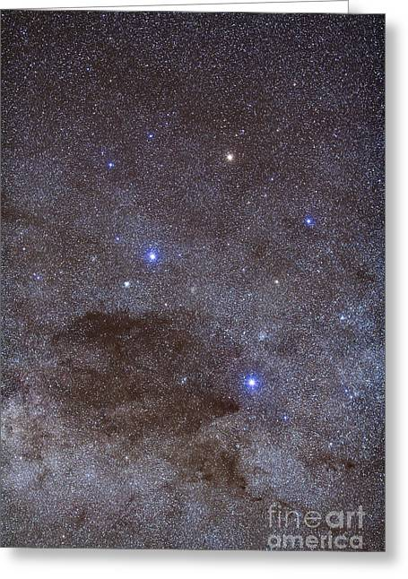 The Southern Cross And Coalsack Nebula Greeting Card by Alan Dyer