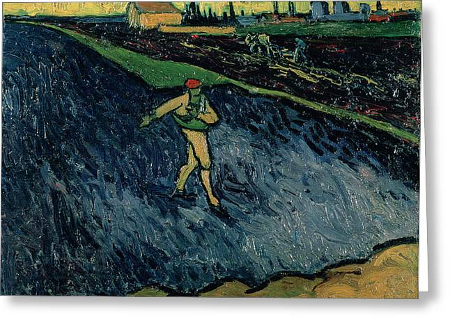 Sowing Greeting Cards - The Sower Greeting Card by Vincent van Gogh