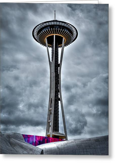 Seattle Center Greeting Cards - The Space Needle - Seattle Washington Greeting Card by David Patterson