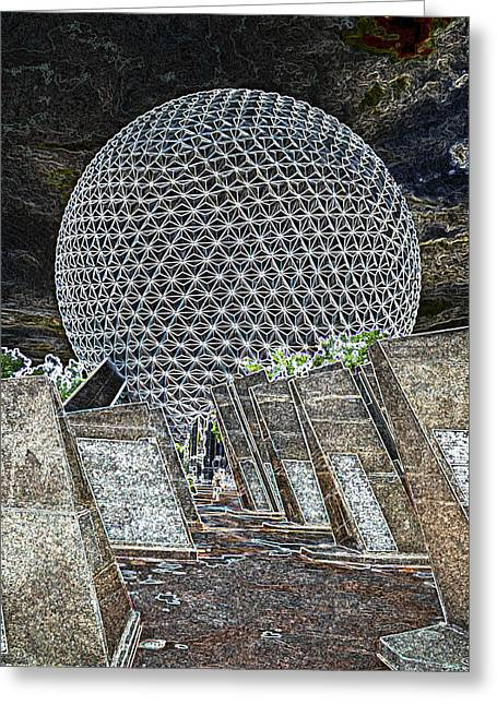 Epcot Greeting Cards - The Space Ship Greeting Card by Ryan Crane
