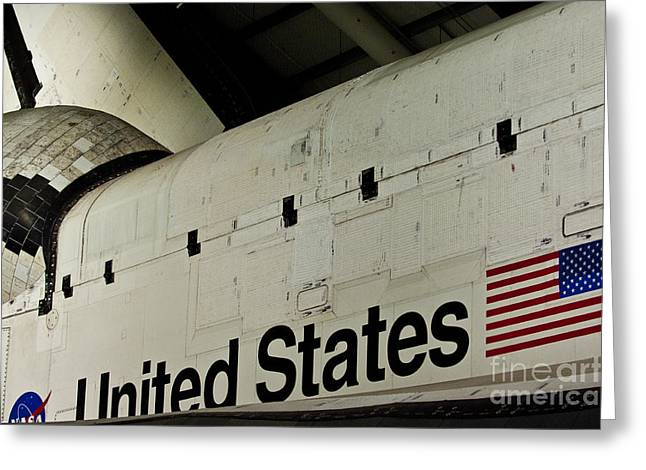Rocket Boosters Greeting Cards - The Space Shuttle Endeavour at its final destination 16 Greeting Card by Micah May
