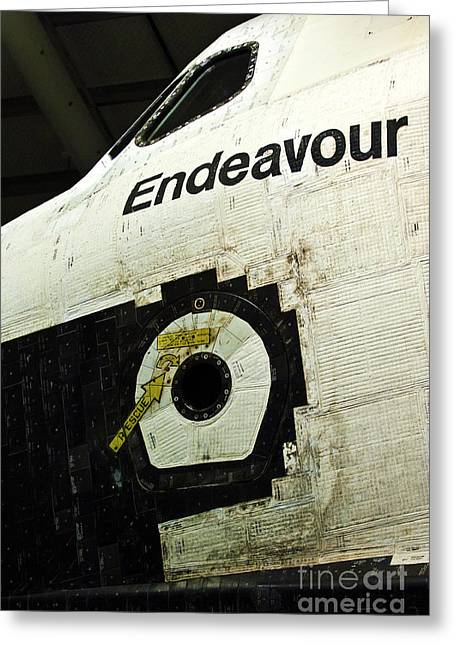 Rocket Boosters Greeting Cards - The Space Shuttle Endeavour at its final destination 29 Greeting Card by Micah May
