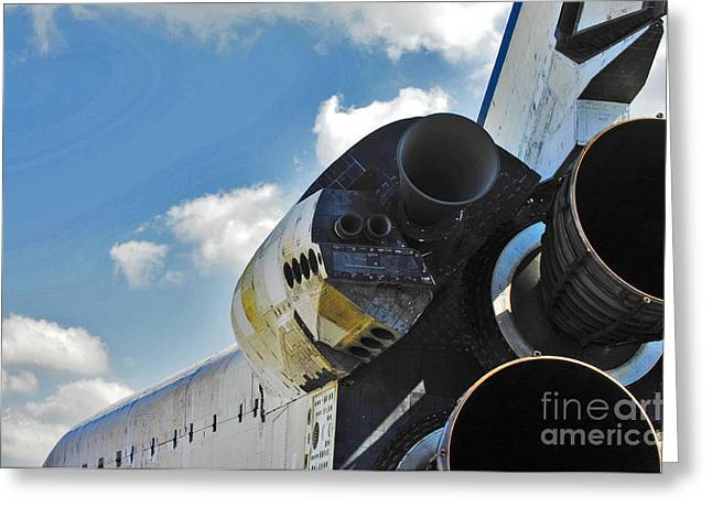 Rocket Boosters Greeting Cards - The Space Shuttle Endeavour Greeting Card by Micah May