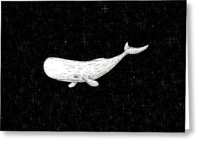 Star Stuff Greeting Cards - The space whale. Greeting Card by Roberta Ferreira