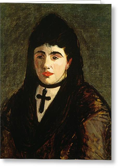 Choker Greeting Cards - The Spaniard Greeting Card by Edouard Manet