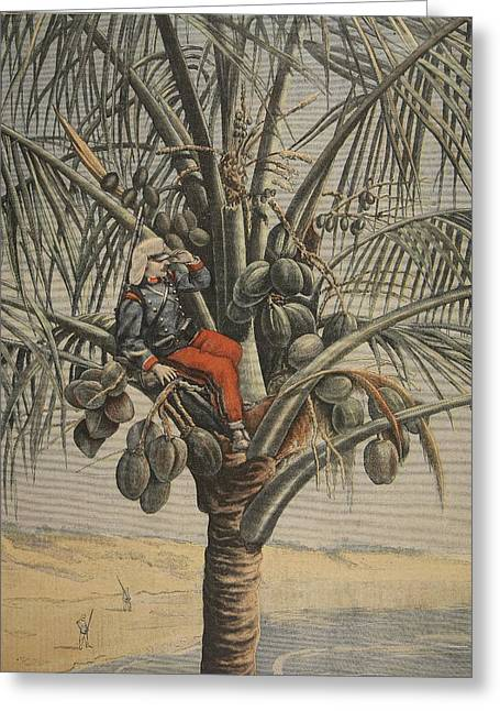 Coconut Trees Greeting Cards - The Spanish American War, Illustration Greeting Card by French School