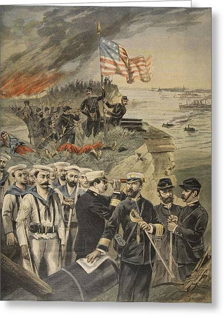 The Spanish American War Landing Greeting Card by French School