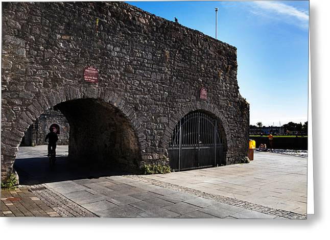 Town Walls Greeting Cards - The Spanish Arch, Galway City, Ireland Greeting Card by Panoramic Images