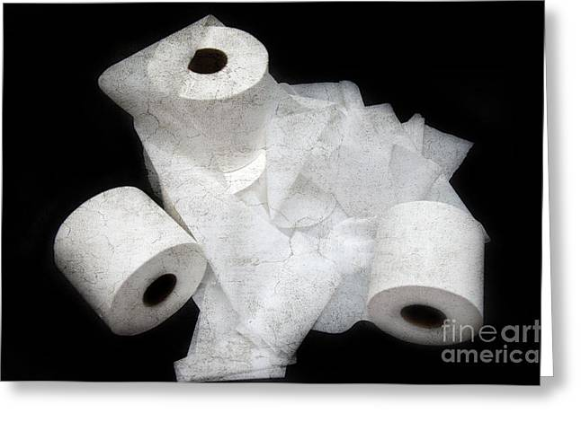 The Spare Rolls 3 - Toilet Paper - Bathroom Design - Restroom - Powder Room Greeting Card by Andee Design