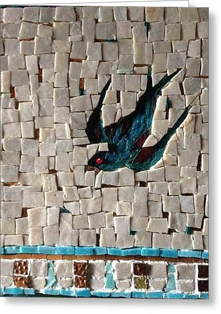 Sparrow Glass Greeting Cards - The Sparrow Greeting Card by Beverly Thomas Jenkins