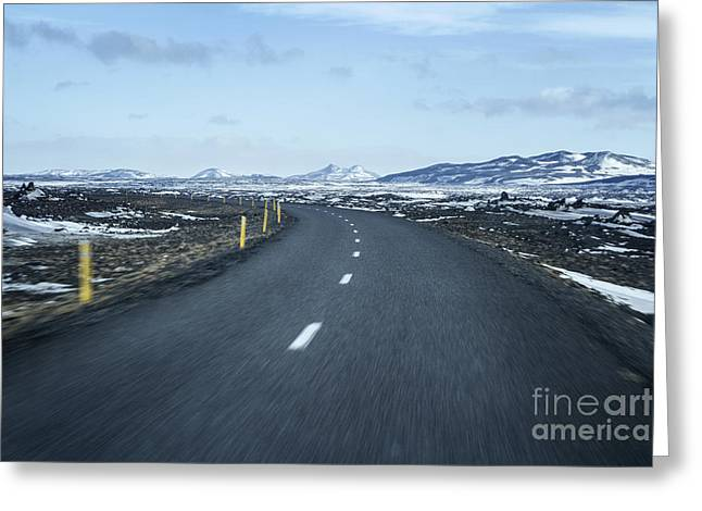 Iceland Greeting Cards - The Speed I Need Greeting Card by Evelina Kremsdorf