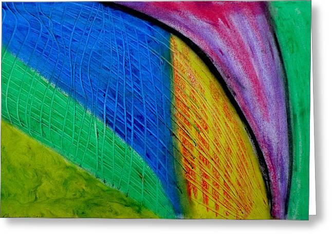 Metal Art Pastels Greeting Cards - The Speed of Light Greeting Card by Paulo Guimaraes