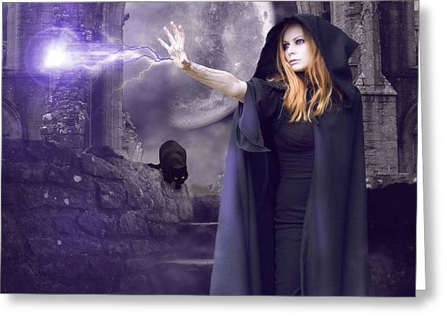 The Spell is Cast Greeting Card by Linda Lees