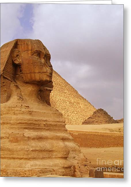 Pharaoh Greeting Cards - The Sphinx of Egypt 02 Greeting Card by Antony McAulay